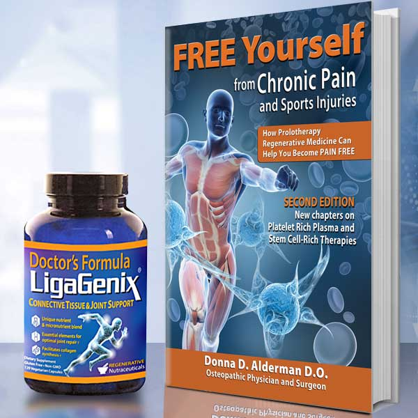 FREE Yourself from Chronic Pain and Sports Injuries book and nutritional supplements half price offer