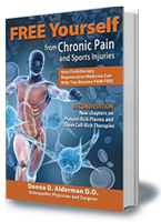 FREE Yourself from Chronic Pain and Sports Injuries book written by a leading regenerative medicine doctor